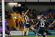 Mansfield Town forward Danny Rose (32) heads towards goal during the EFL Sky Bet League 2 match between Mansfield Town and Grimsby Town FC at the One Call Stadium, Mansfield, England on 4 January 2020.