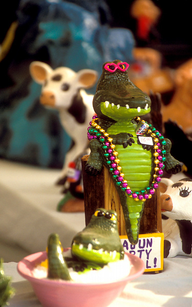 Stock photo of one of many alligator trinkets at the Anhuac Texas Gatorfest