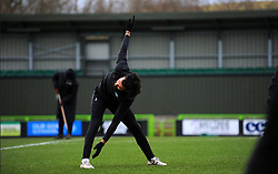 Dominic Bernard of Forest Green Rovers warms up prior to kick-off- Mandatory by-line: Nizaam Jones/JMP - 16/01/2021 - FOOTBALL - innocent New Lawn Stadium - Nailsworth, England - Forest Green Rovers v Port Vale - Sky Bet League Two