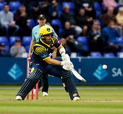Glamorgan's David Lloyd looks to flick the ball over the top<br /> <br /> Photographer Simon King/Replay Images<br /> <br /> Vitality Blast T20 - Round 14 - Glamorgan v Surrey - Friday 17th August 2018 - Sophia Gardens - Cardiff<br /> <br /> World Copyright © Replay Images . All rights reserved. info@replayimages.co.uk - http://replayimages.co.uk