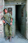 Israeli soldier on patrol in the West Bank