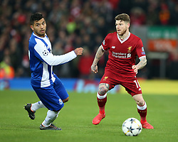 March 6, 2018 - Liverpool, U.S. - 6th March 2018, Anfield, Liverpool, England; UEFA Champions League football, round of 16, 2nd leg, Liverpool versus FC Porto; Alberto Moreno of Liverpool competes with Jesus Manuel Corona of Porto (Photo by Dave Blunsden/Actionplus/Icon Sportswire) ****NO AGENTS---NORTH AND SOUTH AMERICA SALES ONLY****NO AGENTS---NORTH AND SOUTH AMERICA SALES ONLY* (Credit Image: © Dave Blunsden/Icon SMI via ZUMA Press)
