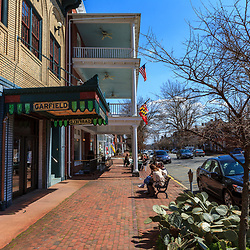 Chestertown, MD, USA - March 30, 2013: Some of the shops in Chestertown MD business district.