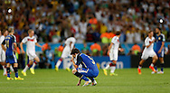 Argentina's Fernando Gago shows dejection at the end of the 2014 FIFA World Cup Final match at Maracana Stadium, Rio de Janeiro<br /> Picture by Andrew Tobin/Focus Images Ltd +44 7710 761829<br /> 13/07/2014