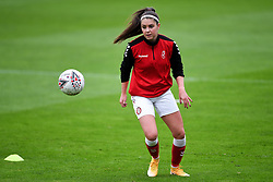 Carla Humphrey of Bristol City Women warms up prior to kick off - Mandatory by-line: Ryan Hiscott/JMP - 18/10/2020 - FOOTBALL - Twerton Park - Bath, England - Bristol City Women v Birmingham City Women - Barclays FA Women's Super League