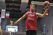 Sassari 14 Agosto 2012 - Qualificazioni Eurobasket 2013 -Allenamento<br /> Nella Foto : STEFANO MANCINELLI<br /> Foto Ciamillo