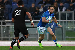 November 24, 2018 - Rome, Rome, Italy - Te Toiroa Tahuriorangi and Michele Campagnaro during the Test Match 2018 between Italy and New Zealand at Stadio Olimpico on November 24, 2018 in Rome, Italy. (Credit Image: © Emmanuele Ciancaglini/NurPhoto via ZUMA Press)