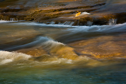 Water flowing over rocks in the Frio River in the Texas Hill Country