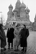 Brinsley Ford, David Byrne, Peter Gabriel and The Edge in Red Square - Greenpeace 1989