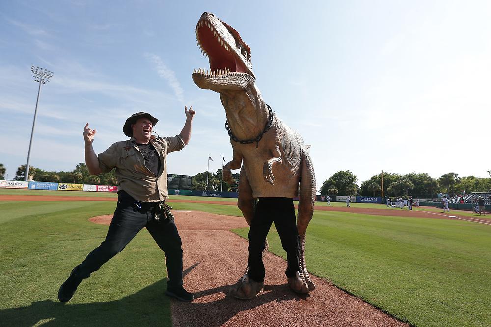 Hickory Crawdads vs. Charleston RiverDogs at Joseph P. Riley Ballpark in Charleston, S.C. on Sunday, July 15, 2018.<br /> Zach Bland/Charleston RiverDogs