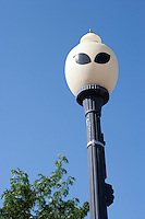 Alien street light at UFO Museum, Roswell, New Mexico.