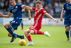 Ayr United's Alan Forest and Dundee's Cemeron Kerr. Half time : Dundee 0 v 0 Ayr United, Scottish Championship game played 10/8/2019.