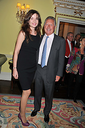 RICHARD NORTHCOTT and JOANNA KURPIERS at Ambassador Earle Mack's 60's reunion party held at The Ritz Hotel, London on 18th June 2012.