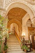 Staircase in Casino Gaditano in Cadiz, Spain