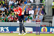 Joe Root batting for England during the International T20 match between England and Pakistan at the Emirates, Old Trafford, Manchester, United Kingdom on 7 September 2016. Photo by Craig Galloway.