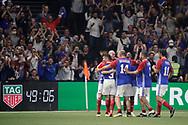 Zinedine Zidane (France 98) scored a goal, celebration with Bixente Lizarazu (France 98), Bernard Diomede (France 98), Robert Pires (France 98), during the 2018 Friendly Game football match between France 98 and FIFA 98 on June 12, 2018 at U Arena in Nanterre near Paris, France - Photo Stephane Allaman / ProSportsImages / DPPI