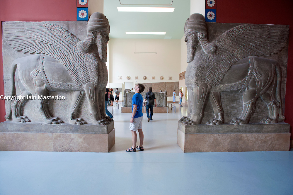 Interior of Pergamon Museum on Museumsinsel in Berlin Germany