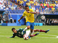 July 2, 2018 - Samara, Russia - July 2, 2018, Russia, Samara, FIFA World Cup 2018, 1/8 finals. Football match of Brazil - Mexico at the stadium Samara - Arena. Player of the national team Gabriel Jesus  (Credit Image: © Russian Look via ZUMA Wire)