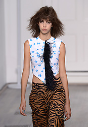 A model on the catwalk during the Ashley Williams London Fashion Week SS18 show held at The Swiss Church, London. Photo credit should read: Doug Peters/EMPICS Entertainment