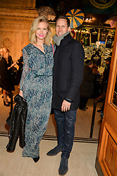 BRENDAN COLE and his wife ZOE at the opening night of Amaluna by Cirque Du Soleil at The Royal Albert Hall, London on 19th January 2016.