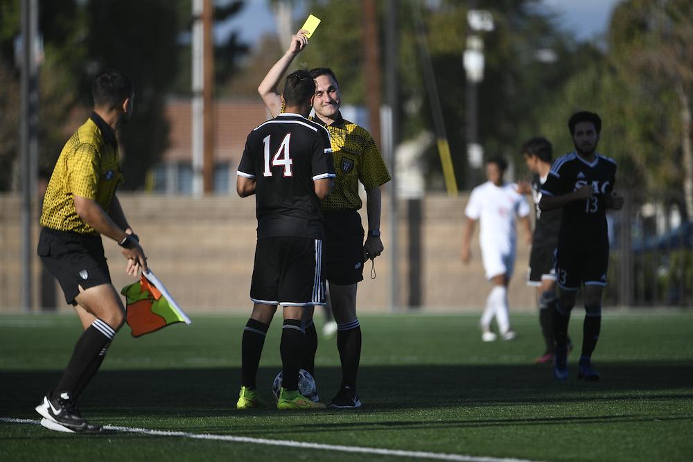 Santa Ana vs Orange Coast mens soccer. Santa Ana, California, USA on November 04, 2016. Photo: Bill Baum