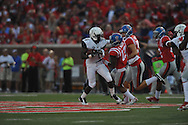Vanderbilt Commodores wide receiver Darrius Sims (6) is tackled by Mississippi Rebels defensive back Kailo Moore (13) on a kickoff return at Vaught-Hemingway Stadium at Ole Miss in Oxford, Miss. on Saturday, September 26, 2015. (AP Photo/Oxford Eagle, Bruce Newman)