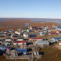 Sept 2009 Yamal Peninsula, Siberia, Russia - global warming impacts story on the Nenet people , reindeer herders in the Yamal Peninsula Yas Sale town on Yamal Peninsula
