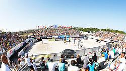 20140607 ITA: EK Beachvolleybal, Cagliari<br /> Jon Stiekema, Christiaan Varenhorst spelen in een vol stadion tegen de favorieten Nicolai en Lupo (ITA)<br /> ©2014-FotoHoogendoorn.nl / Pim Waslander