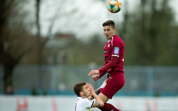Zan Kumer of Triglav during Football match between NK Triglav and NK Maribor in 25th Round of Prva liga Telekom Slovenije 2018/19, on April 6, 2019, in Sports centre Kranj, Slovenia. Photo by Vid Ponikvar / Sportida