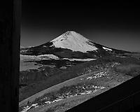 View of Mt Fuji. Gondola ride down Mt Komagatake. Fuji Hakone Izy National Park. Image taken with a  Fuji X-T1 camera and 35 mm f/1.4 lens.