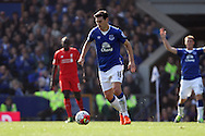 Gareth Barry of Everton in action. Barclays Premier League match, Everton v Liverpool at Goodison Park in Liverpool on Sunday 4th October 2015.<br /> pic by Chris Stading, Andrew Orchard sports photography.