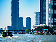 02 NOVEMBER 2018 - BANGKOK, THAILAND:  Traffic on the Chao Phraya River in Bangkok.     PHOTO BY JACK KURTZ