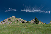 After climbing back down Bear Butte, this cirrus cloud drifted above to the north. I thought it looked like a fish.