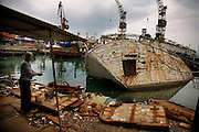 Commercial fishing port in Durres