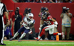 New England Patriots running back James White catches a pass and runs in to score as the Atlanta Falcons meet the New England Patriots in Super Bowl LI on Sunday, February 5, 2017 at NRG Stadium in Houston, TX, USA. Photo by Bob Andres/Atlanta Journal-Constitution/TNS/ABACAPRESS.COM