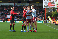 Football - 2019 / 2020 Premier League - AFC Bournemouth vs. Aston Villa<br /> <br /> Tempers get heated between Jack Grealish of Aston Villa and Bournemouth's Adam Smith during the Premier League match at the Vitality Stadium (Dean Court) Bournemouth  <br /> <br /> COLORSPORT/SHAUN BOGGUST