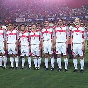 Turkish soccer  National team  during their before training Florya Sport Hall Istanbul/TURKEY .<br /> Photo by Aykut AKICI/TurkSporFoto
