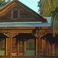 Old Natural Wood Conch House in Key West