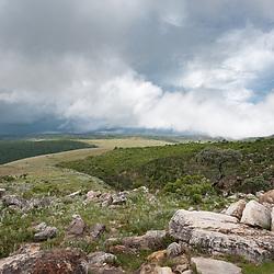 O planalto da Huíla, perto da Tundavala (Tunda Vala) a 2200m acima do nível do mar. Província da Huíla. Angola
