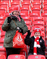 Stoke City fans in the stands