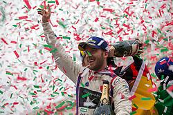 April 14, 2018 - Rome, RM, Italy - S. Bird of Virgin Racing celebrate the victory of the Rome E-Prix Round 7 as part of the ABB FIA Formula E Championship on April 14, 2018 in Rome, Italy. (Credit Image: © Danilo Di Giovanni/NurPhoto via ZUMA Press)