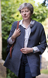 © Licensed to London News Pictures. 18/06/2017. Reading, UK. Prime Minister Theresa May attends church in her constituency. Photo credit: Peter Macdiarmid/LNP