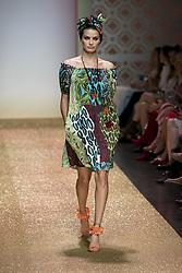 July 3, 2018 - Berlin, Germany - Brasilian Model Isabeli Fontana runs the runway during the Marc Cain Spring/Summer 2019 Fashion Show at Westhafen in Berlin, Germany on July 3, 2018. (Credit Image: © Emmanuele Contini/NurPhoto via ZUMA Press)