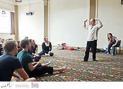 Mike Shepherd, founder of Kneehigh Theatre, leads a professional development workshop with theatre makers from around the country, as part of the New Zealand International Arts Festival in Wellington.