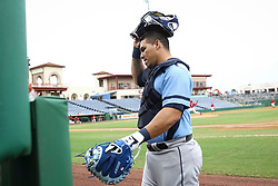 June 5, 2017 - St. Petersburg, Florida, U.S. - WILL VRAGOVIC       Times.Charlotte Stone Crabs catcher Wilson Ramos (36) walks to the dugout before the start of the game between the Charlotte Stone Crabs and the Clearwater Threshers at Spectrum Field in Clearwater, Fla. on Monday, June 6, 2017. (Credit Image: © Will Vragovic/Tampa Bay Times via ZUMA Wire)