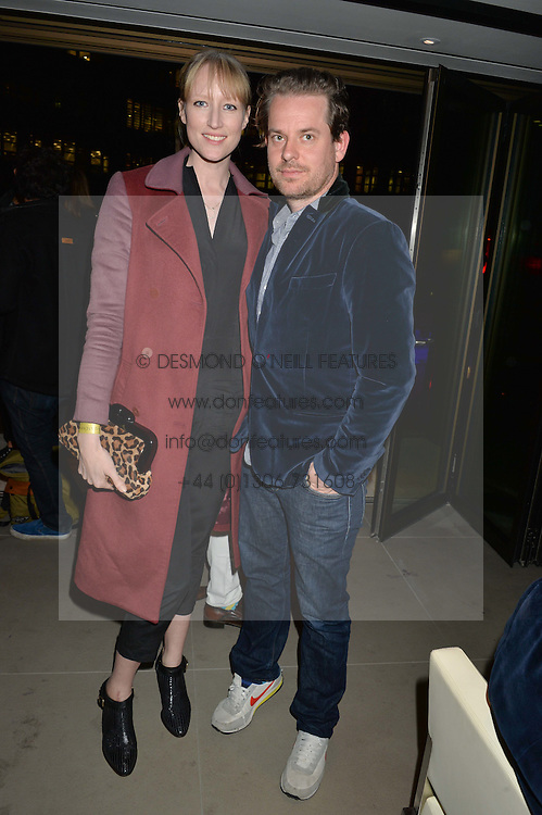 JADE PARFITT and TOM CHICHESTER-CLARK (wants to be known as Tom CC) at the launch of Broadgate Circle, City of London on 9th June 2015.
