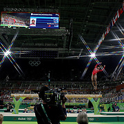 Gymnastics - Olympics: Day 10   Simone Biles #391 of the United States performing her routine in the Women's Balance Beam Final during the Artistic Gymnastics competition at the Rio Olympic Arena on August 15, 2016 in Rio de Janeiro, Brazil. (Photo by Tim Clayton/Corbis via Getty Images)<br /> <br /> (Note to editors: A special effects starburst filter was used in the creation of this image)