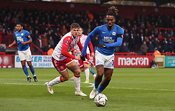 Ivan Toney of Peterborough United in action against Stevenage - Mandatory by-line: Joe Dent/JMP - 09/11/2019 - FOOTBALL - Lamex Stadium - Stevenage, England - Stevenage v Peterborough United - Emirates FA Cup first round