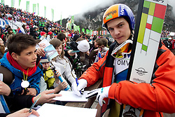 Matej Dobovsek of Slovenia during Flying Hill Individual Qualifications at 1st day of FIS Ski Jumping World Cup Finals Planica 2011, on March 17, 2011, Planica, Slovenia. (Photo by Vid Ponikvar / Sportida)