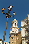 Low angle view of buildings in Cadiz, Andalusia, Spain